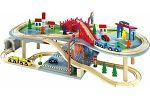 Holzeisenbahn Eisenbahn Mehrstöckig