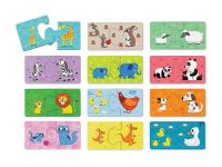2 er Puzzle: Tierkinder - Baby Animals