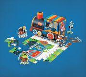 Interaktives Puzzle und Spielset: Eisenbahn - Zug